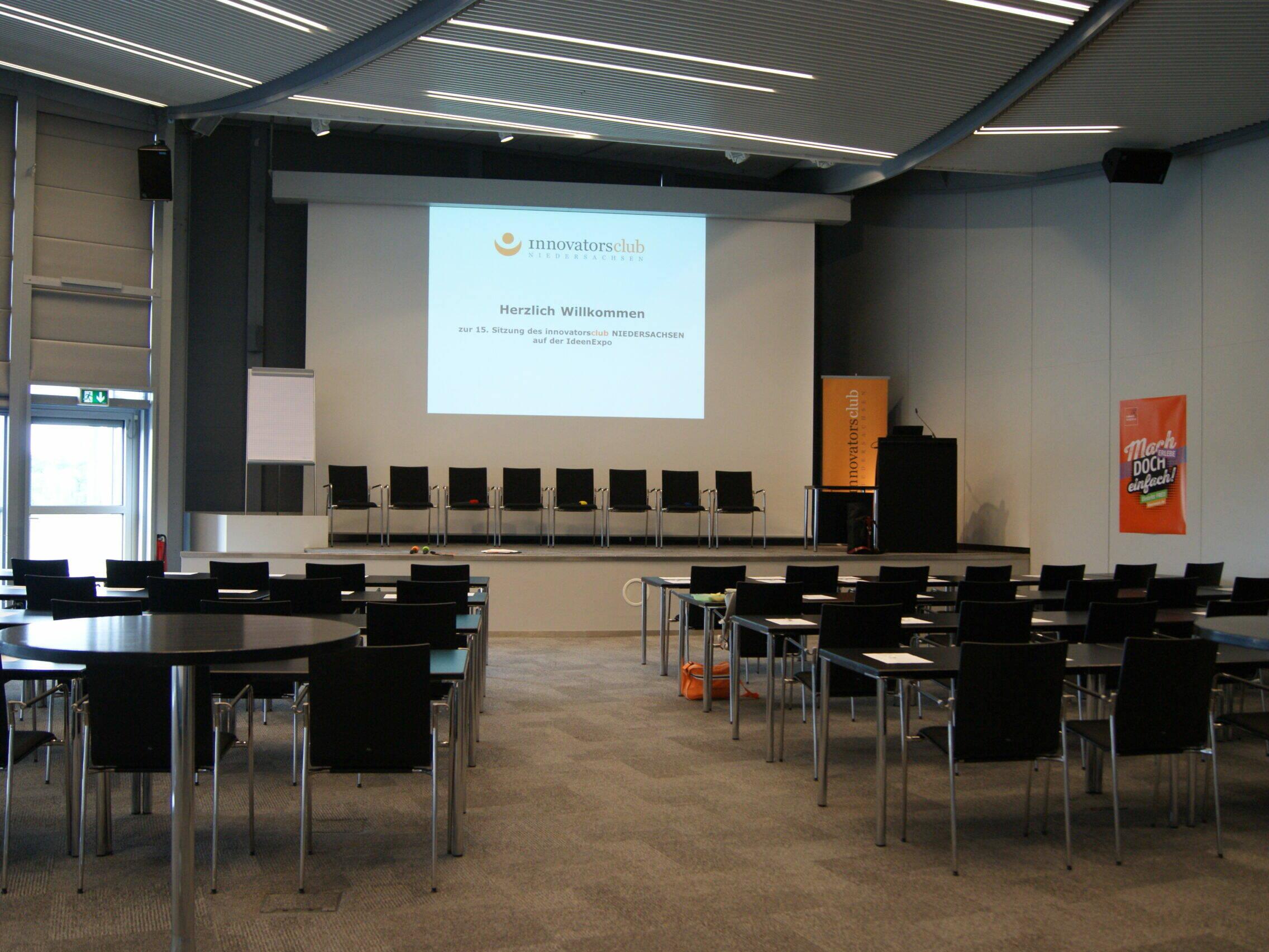 Veranstaltung innovatorsclub - leerer Tagungsraum